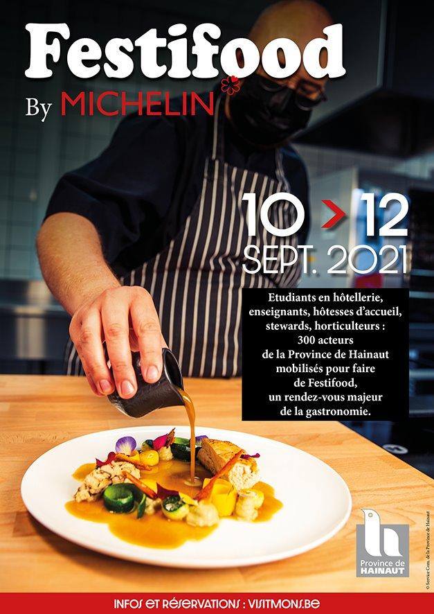 Les élèves de l'enseignement provincial à l'honneur lors du Festifood 2021 by Le Guide Michelin