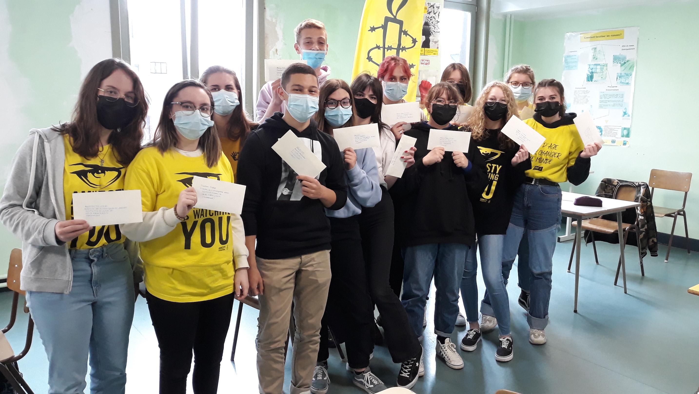 Les élèves de l'EDF Mons soutiennent les réfugiés Syriens