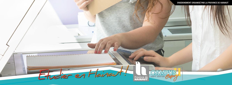 Un Copy Center, avec services et commandes en ligne sur le Campus de l'Université du Travail !