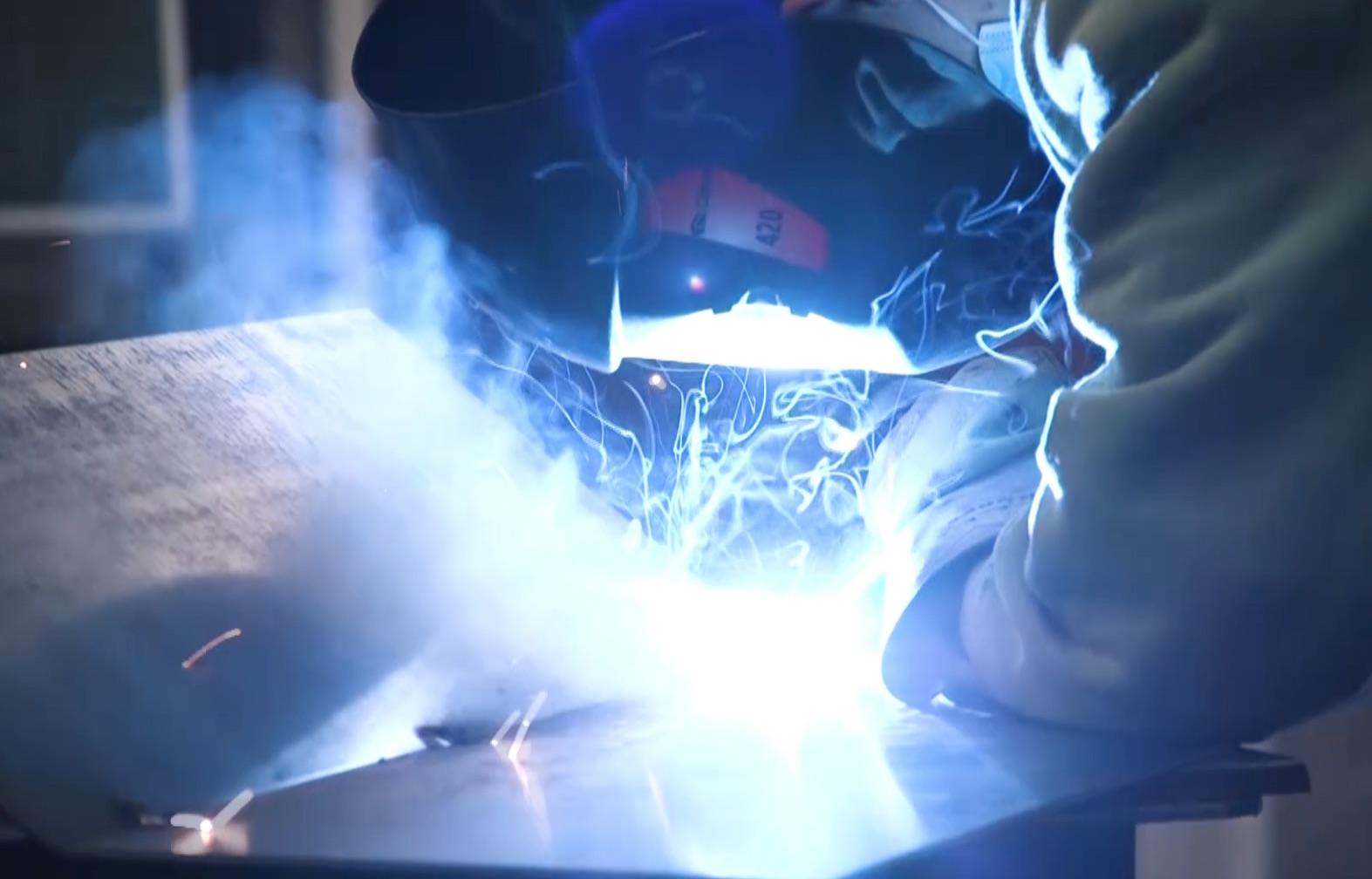 A l'IETS, les métalliers-soudeurs disposent d'un atelier professionnel !