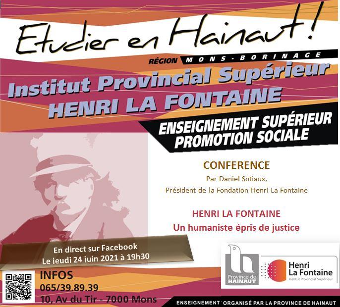 Ne dites plus Promsoc Supérieur Mons Borinage mais Institut Provincial Supérieur Henri La Fontaine !