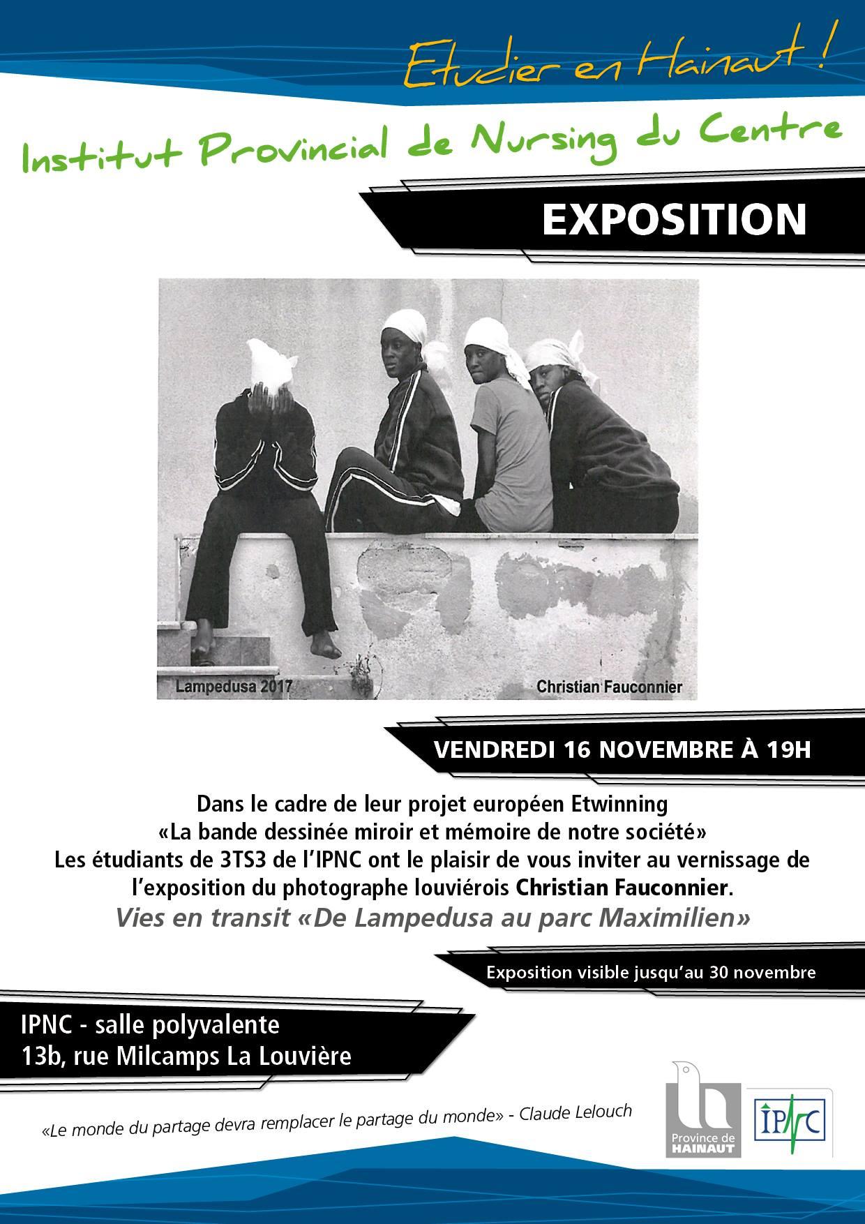 """Expo """"De Lampedusa au Parc Maximilien"""""""