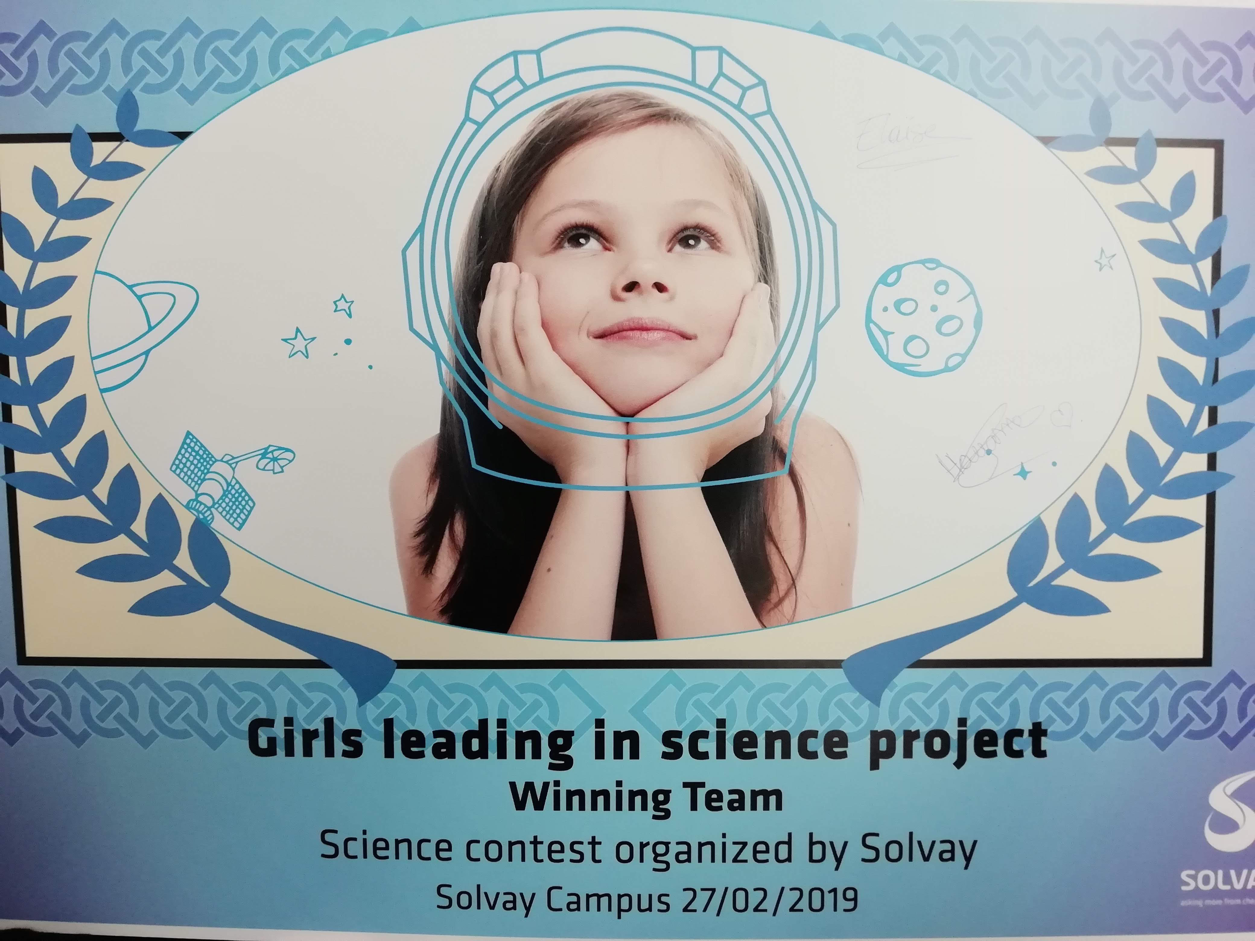 L'IPES d'Ath lauréat du concours « Girls Leading in Science Project »