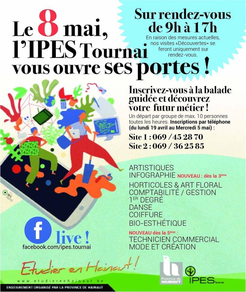 JPO à l'IPES Tournai ce 08 mai