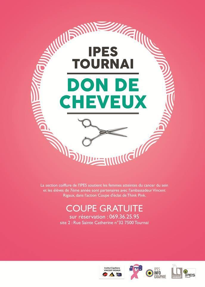 Octobre Rose à l'IPES de Tournai - Don de cheveux
