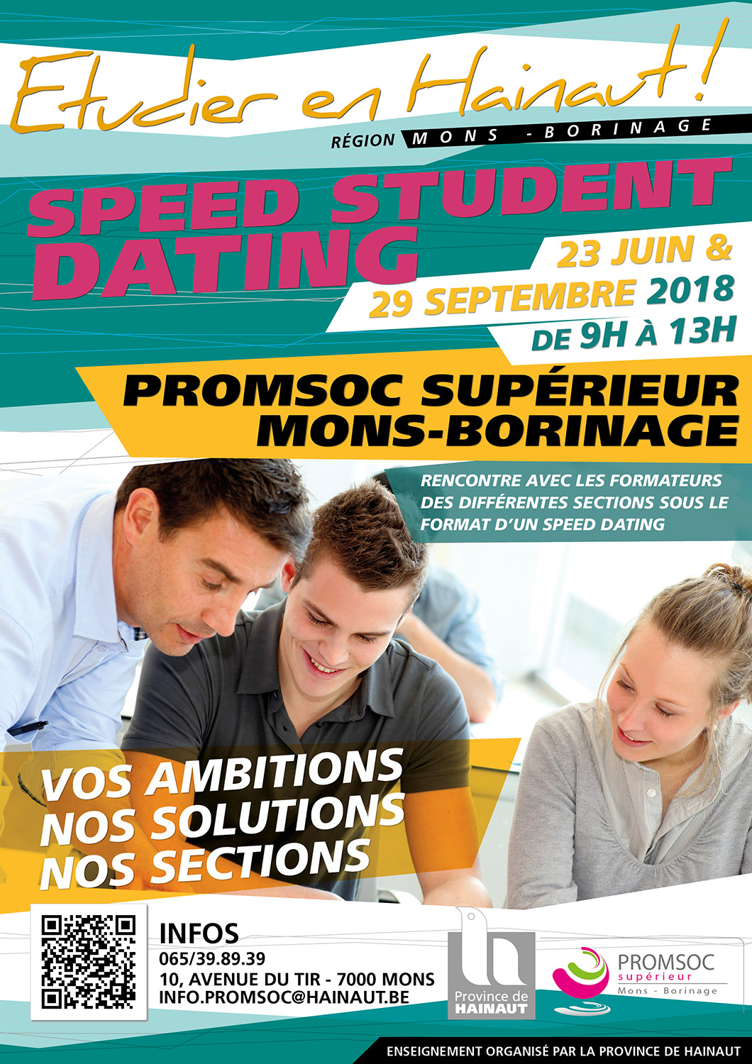 Speed Student Dating à la Prom Soc Supérieur Mons Borinage