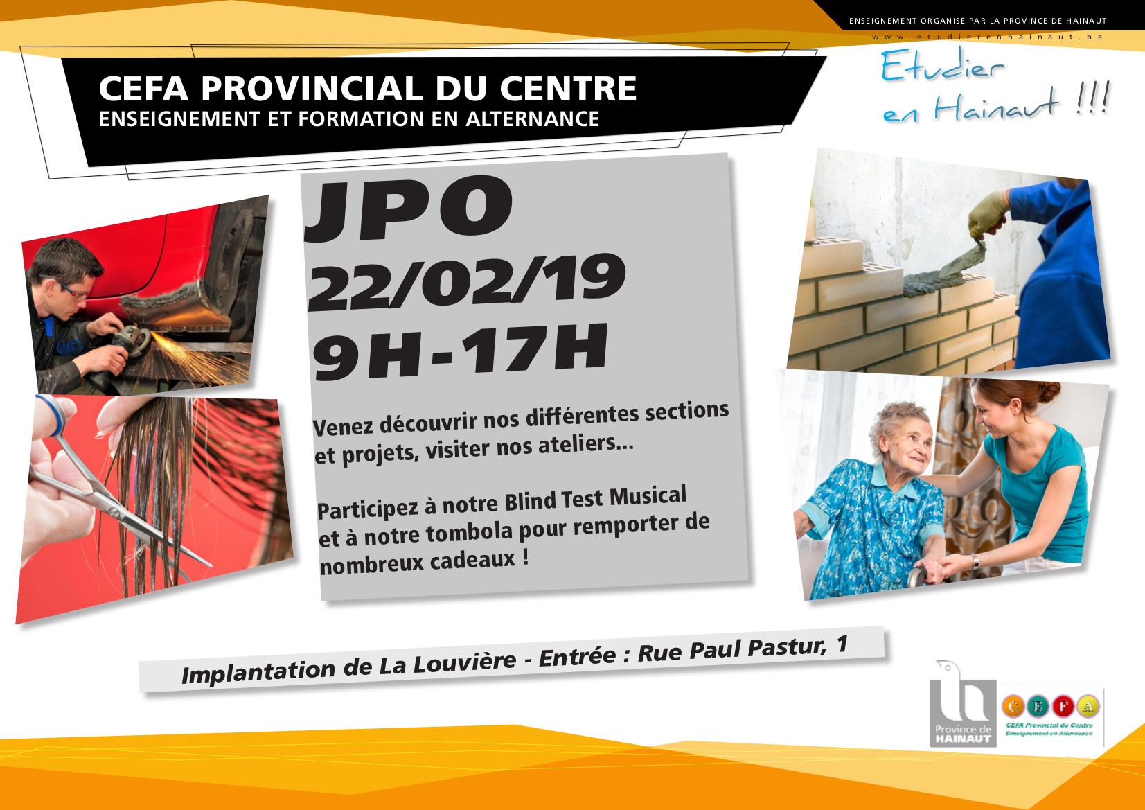 JPO 22/02 au CEFA provincial du Centre