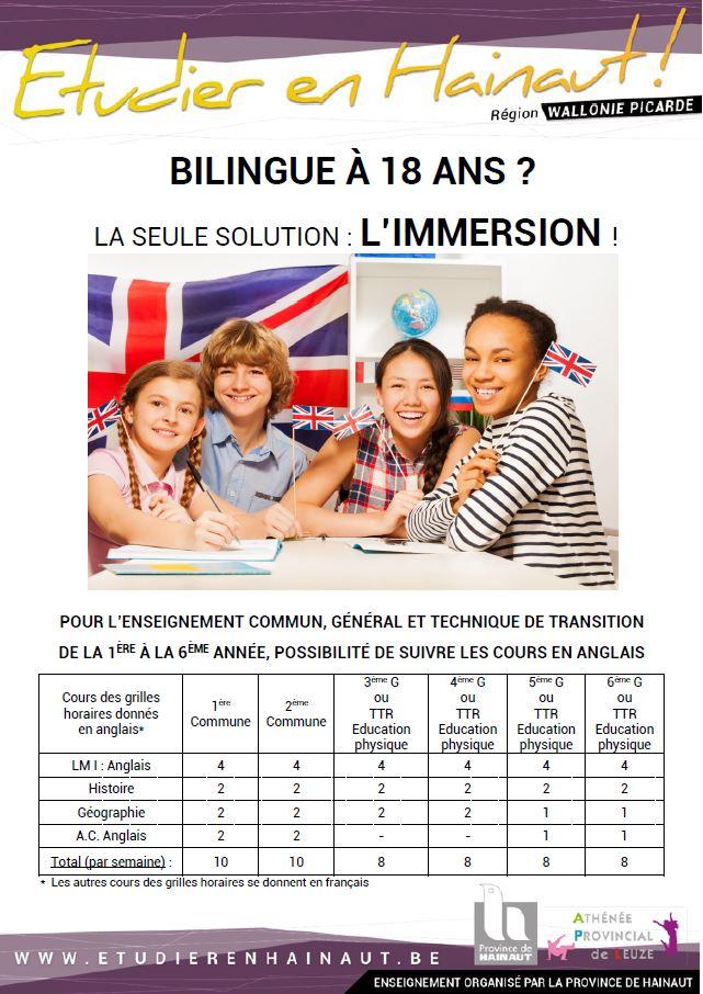 L'immersion en anglais à l'APL