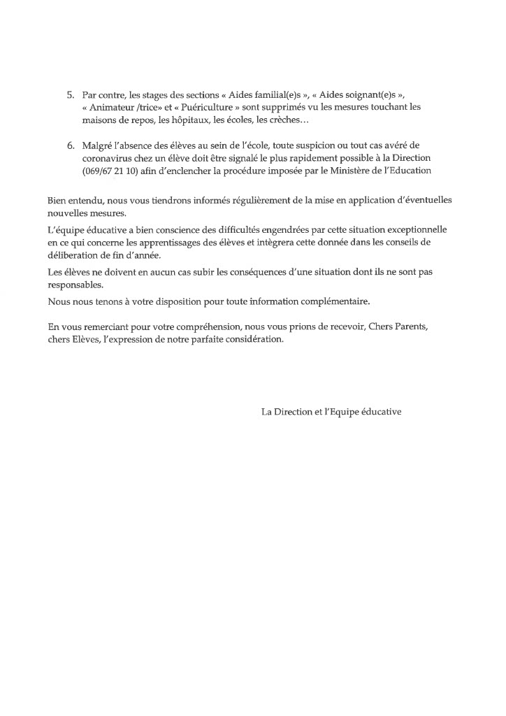 Courrier parents suspension cours1024 1