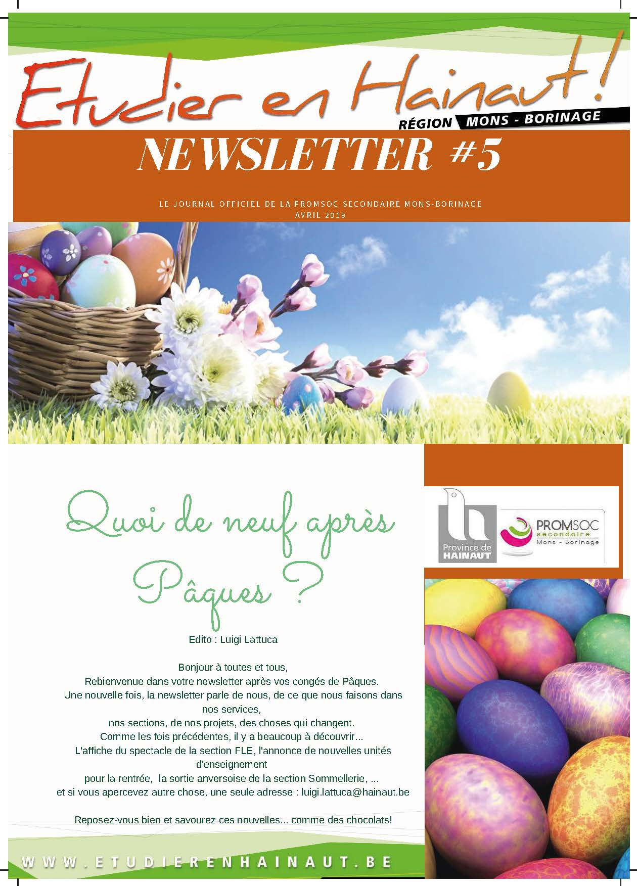 Newsletter 5 année scolaire 2019 2020 Page 1