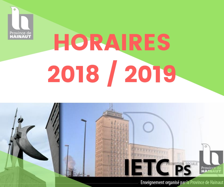 Horaires IETCPS - 2018/2019
