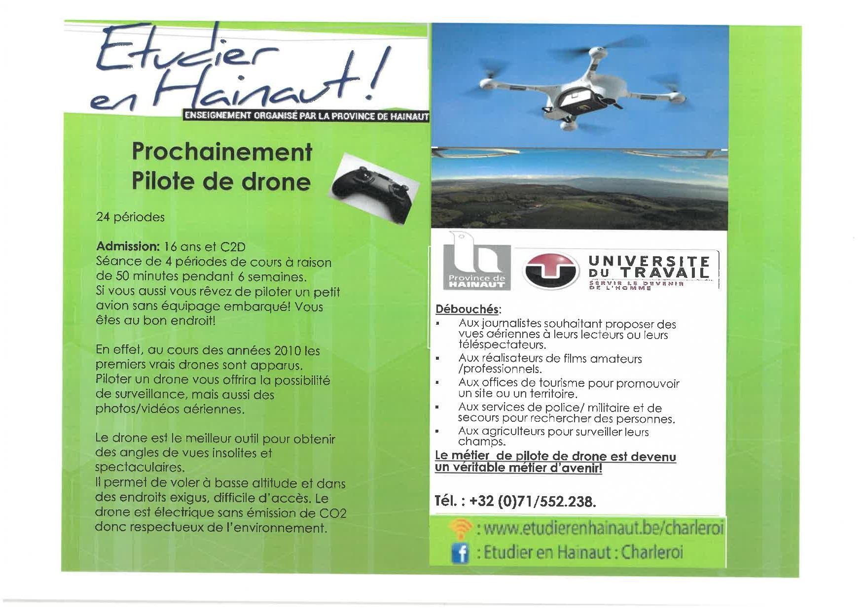 Devenir pilote de drone!