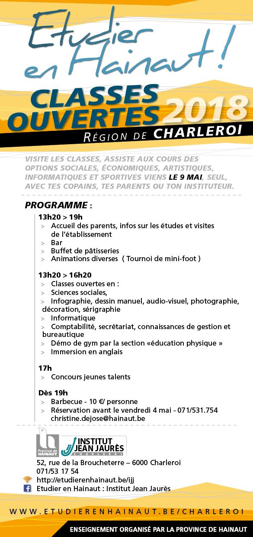 Programme des Classes Ouvertes IJJ