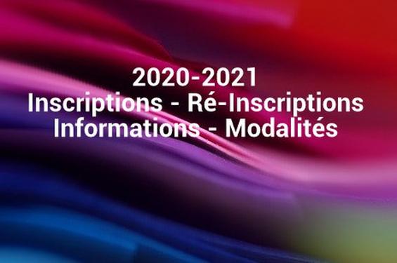 Inscriptions 2020-2021 INFORMATION