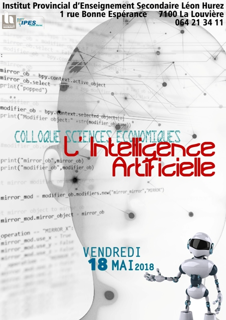 Colloque Sciences Economiques le 18 mai 2018: L'Intelligence Artificielle