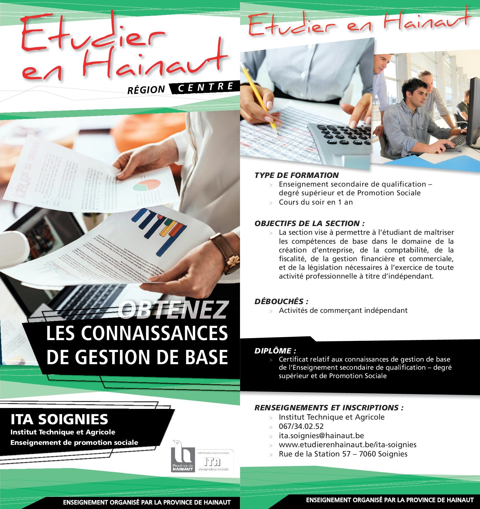 flyer sections ITA gestion WEB