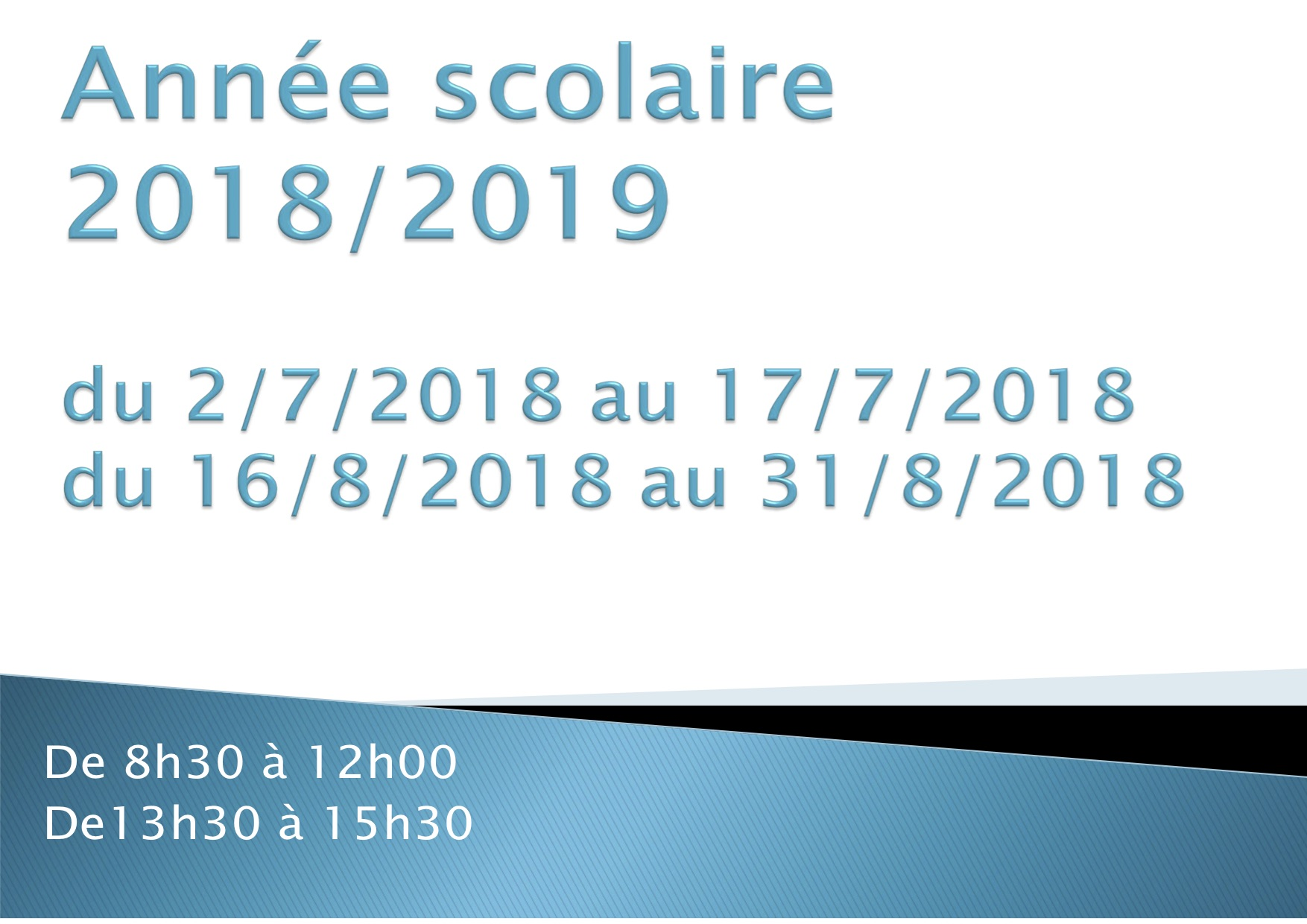 affiche inscription 2018