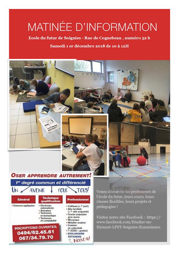 Découverte de l'Ecole du Futur - 1er décembre 2018