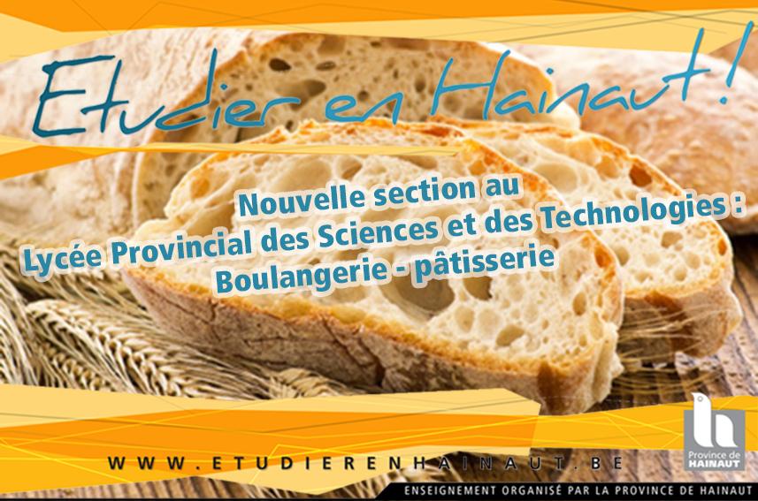 Nouveau : section boulangerie-pâtisserie au LPST