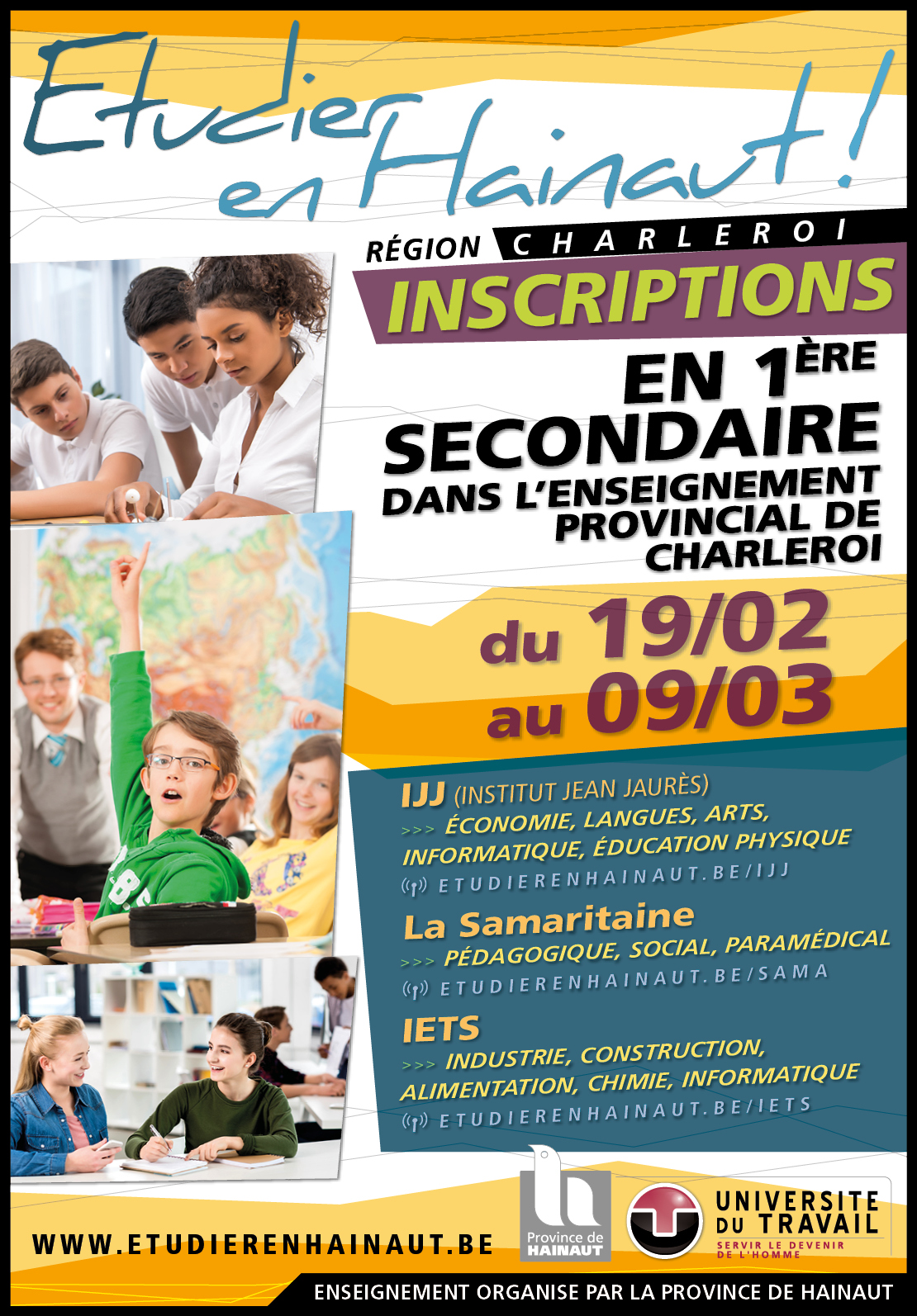 Inscriptions en 1ère secondaire