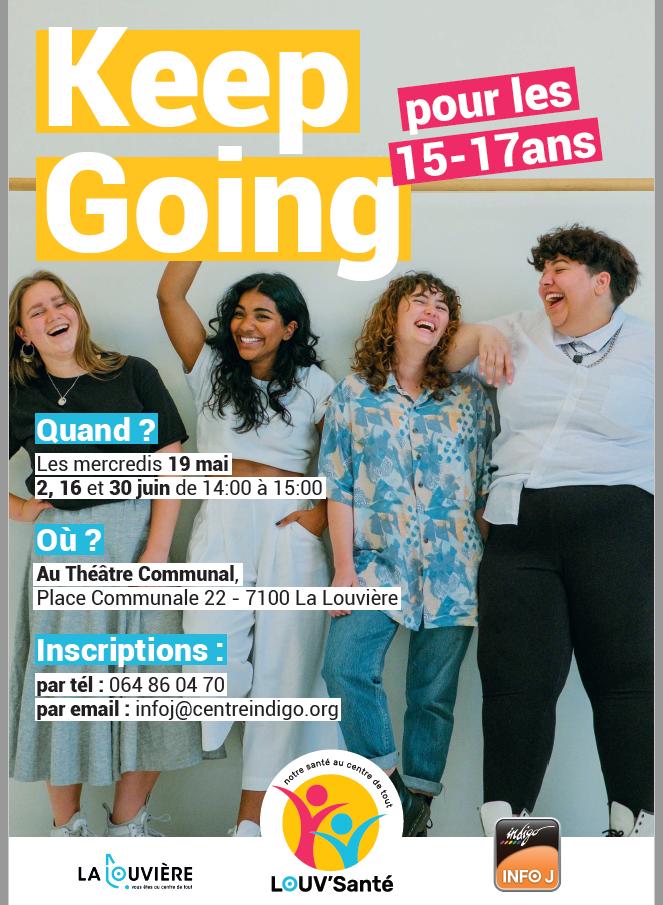 Keep Going : des espaces de paroles à La Louvière pour les jeunes